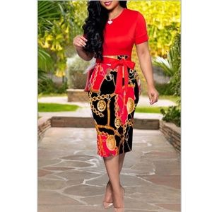 Baroque Sheath Dress Classy Chic